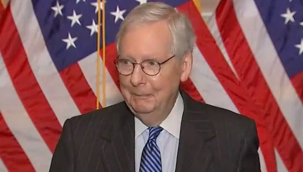 Mitch McConnell is no more credible or empathetic than Trump, but still gets indulgent press coverage   Press Watch